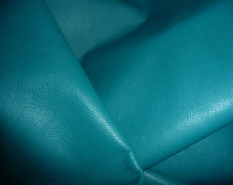 "Leather 8""x10"" DIVINE Dark Turquoise Top Grain Cowhide 2-2.5oz /.8-1mm PeggySueAlso™ E2885-23"