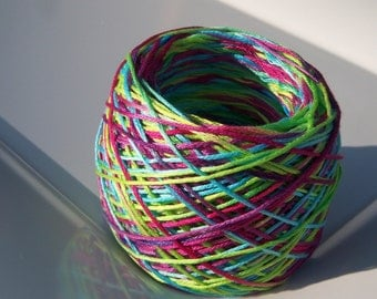 LAST AMOUNTS - Hand Dyed Embroidery Thread - 6 Strand - 100% Cotton - Tie Dye Fun - Your Choice of Length