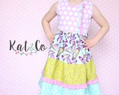Clearance price.   Only a few left!   Butterfly Kiss girls dress   size 2t or 8.