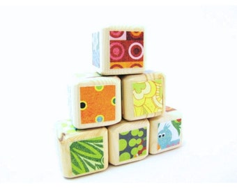 Baby Blocks. Toddler toy. Stacking toy. Rainbow. Colorful. Baby Shower Decoration. HIPPIE. Groovy.  Wood toy.  Nursery Decor.