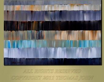 ABSTRACT ORIGINAL Painting Large 30x40 Ready to Hang Wall Art  By Thomas  John