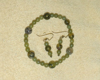 Mossy Green Stretch Bracelet