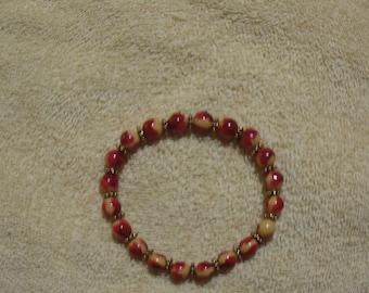 Red & Yellow Stretch Bracelet