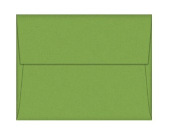 A7 Envelopes - Gumdrop Green with Square Flap FREE SHIPPING