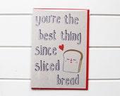 Greetings Card - Sliced Bread