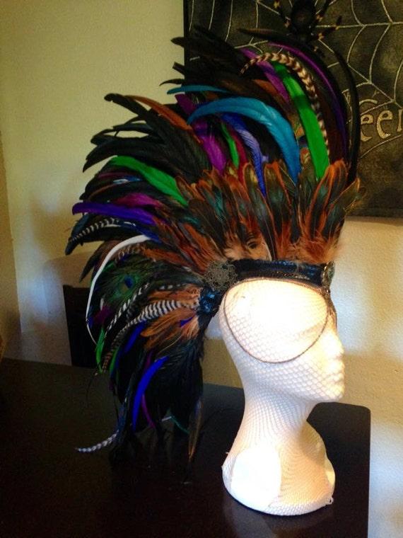 "Feather Mohawk Headdress  - ""Calisto"""