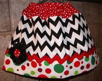 Girls Twirl Skirt Infant toddler flower Custom..Chevron Christmas..sizes 0-6, 6-12 months, 1/2, 3/4, 5/6, 7/8, 9/10 Bigger Sizes Available