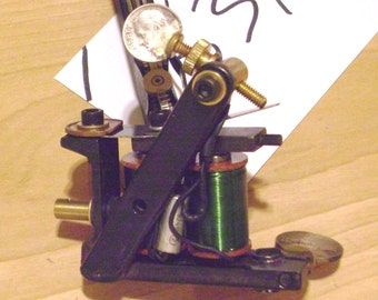 Handmade Tattoo Machine, low-carbon shader from Skunkverks in Cleveland, OH