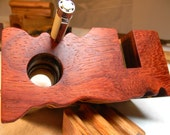Fine Ash & Padauk Exotic Desk Caddy...............Desk Organizer....Display...Face