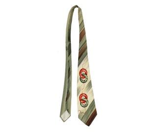 Vintage 40s Necktie Tie Mens Dress Wear Suit Business Professional 1940s Rockabilly Fashion