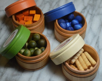 Pretend Baby Food Sorting Counting Wooden Toy