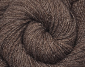 Handspun yarn - NATURAL BROWN - Natural color Dorper wool, DK weight, 310 yards
