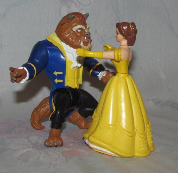Vintage Disney Beauty Amp The Beast Figures Dancing Scene