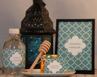 Set of 6 ramadan mubarak Favor/Gift Tags