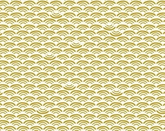 Cloud9 Organic Fabrics - Koi - Smile and Wave Reed 1/2 YD