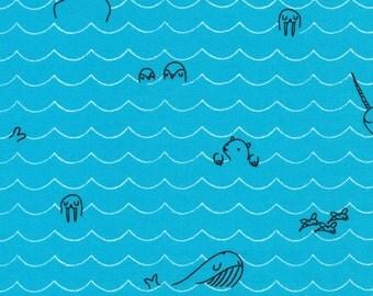Cloud9 Organic Fabrics - Seven Seas - Sea Critters 1/2 YD