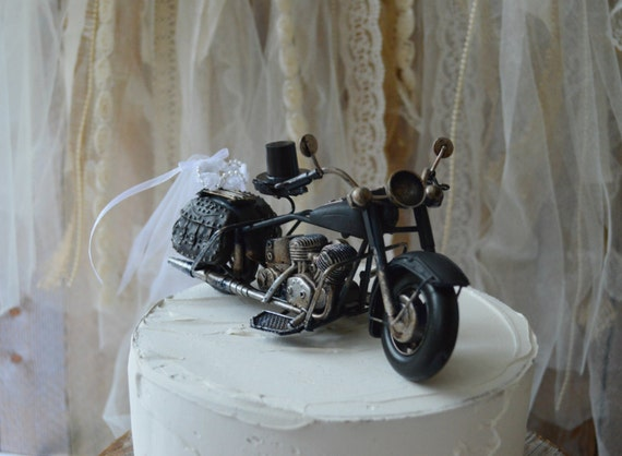 wedding cake topper harley davidson motorcycle motorcycle wedding cake topper motorcycle topper harley 26335