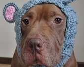 Mouse Dog Snood Crochet Large Ready to Ship
