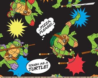 "End of Bolt - 27""x44"" of Teenage Mutant Ninja Turtles on Black from Springs Creative"