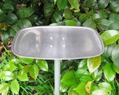 Metal Bird Feeder - Oval Tray feeder - platform bird feeder