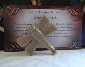 Hand Carved *DRAGONFLY* Animal Spirit Totem for Spiritual Jewelry or Crafts
