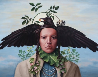 Crow-Boy - Fine Art Print