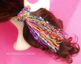 Rainbow Scrunchie - Hair Elastics, Elastic Hair Ties, Hair Band, HairBands, Hairbandz