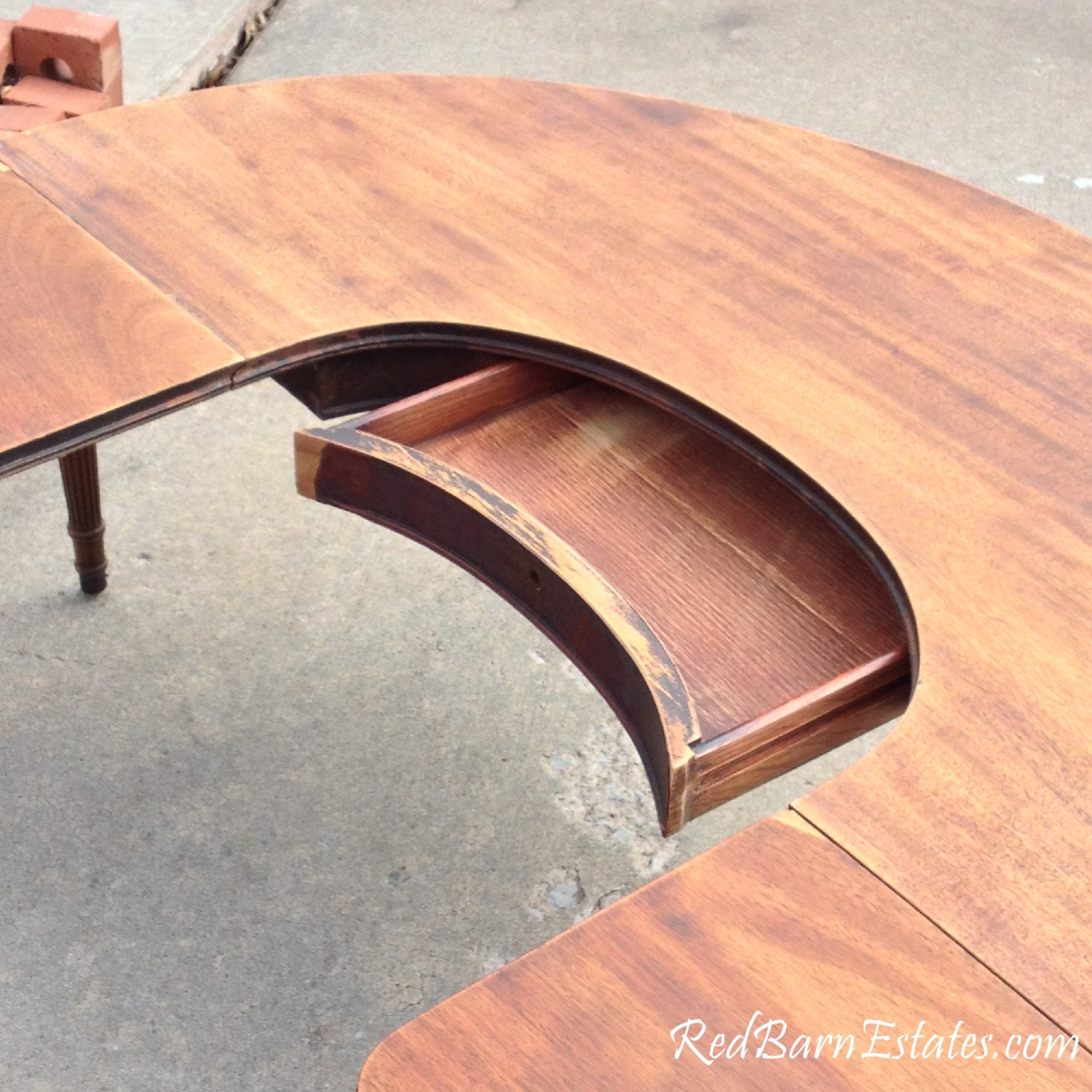 Antique Coffee Table With Folding Sides: Drop Leaf Sides