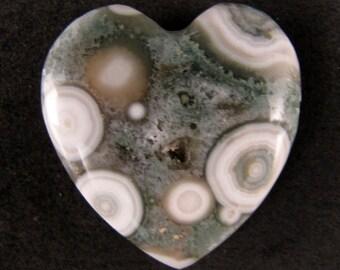 Ocean Jasper Heart  ETOJ408
