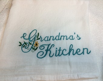 personalized Kitchen flour sack  towel, great grandma gift, kitchen decor, monogrammed towel, dish towel, chicken towel, Mother's Day