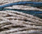 CUSTOM medium crochet synthetic dreadlock extensions - natural look, single ended, 30 pieces.