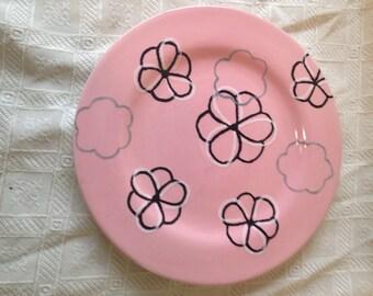 Floating Flowers Salad Plate