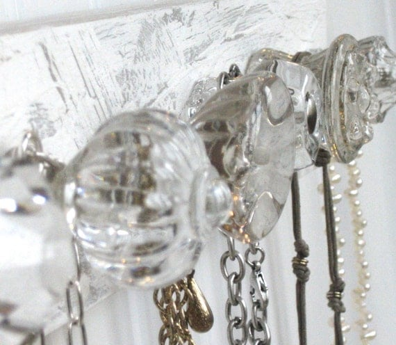 Necklace Holder with Six Clear Knobs