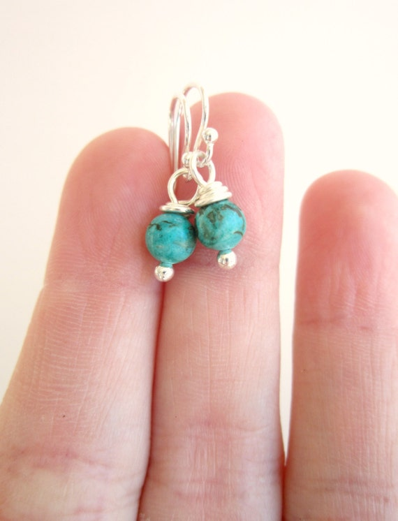 real turquoise earrings small genuine turquoise earrings turquoise by 2411