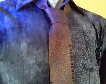 Brown Tie   Mens Brown Tie   Mens Neckties   Mens Leather Tie   Groomsmen Ties   Cool Ties   Unique Mens Ties   Wedding Tie  Wedding Necktie