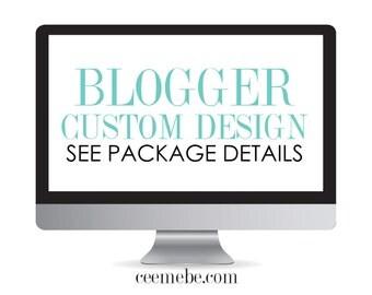 COMPLETE Blogger Custom Design