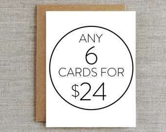 Mix & Match RHUBARB PAPER CO. Greeting Cards - 6 For 24 Dollars!