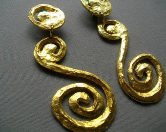 Carole Saint Germes Paris Vintage Earrings Haute Couture Runway FREE SHIPPING To The Usa And Canada