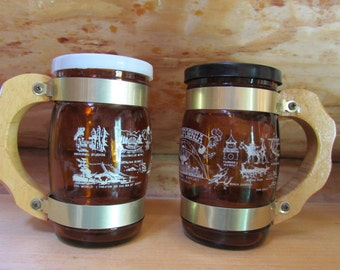 California Beer Stein Salt and Pepper Shakers