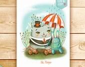 Digital illustration print - MrFloppo