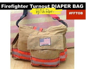 The Original Firefighter Turnout Diaper Bag for Men and Women by Niki Rasor