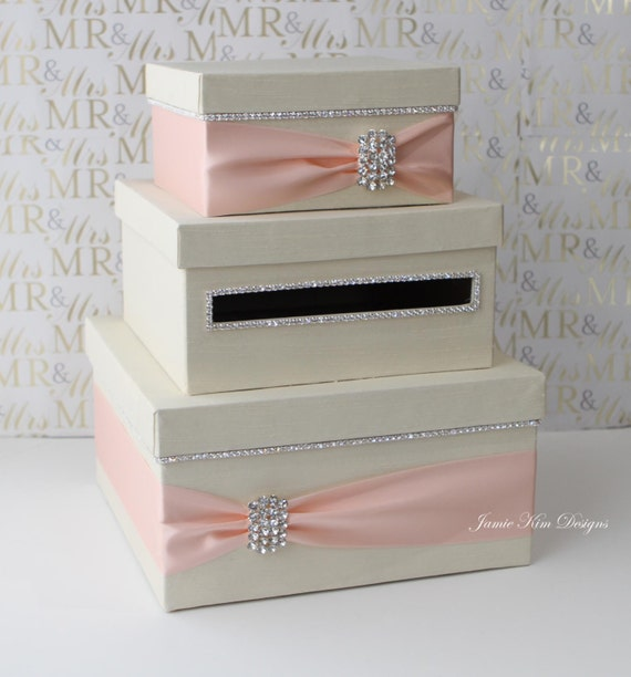Wedding Gift Card Containers : Wedding Card Box Money Box Wedding Gift Card Money Box - Custom Made ...