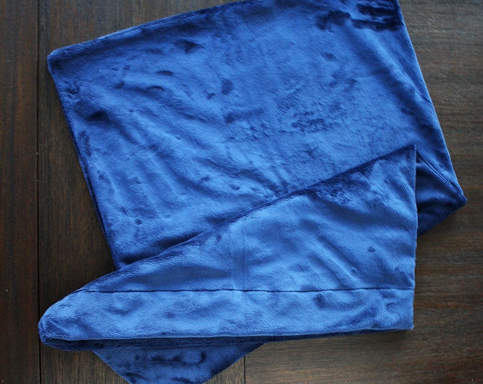 Minky Pillowcase, minky and satin pillowcase, Soft pillowcase standard pillowcase navy blue soft pillowcase, pillow for boy, pillow for girl