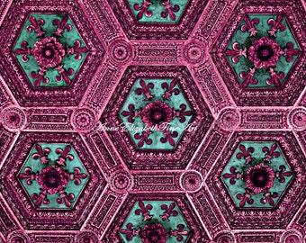 Pink Photography, Neon Pink Print, Hot Pink Picture, Preppy Pink Print, Pink Nursery,Teal Print,Turqouise Print,Dorm Decor,Fleur De Lis