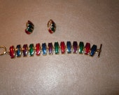 Pretty Bracelet with Clip on Earrings