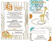 Virtual Baby Shower - Skype - Facetime - Printable PDF - Baby Shower Kit - Invitation +Registry +Shipping Label +Games +Banner +Thank Yous