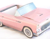 5 CLASSIC Pink Car paper Food Box-Vintage Car Box-Parties-Favors-