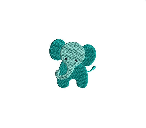Mini Elephant Machine Embroidery Design-INSTANT DOWNLOAD