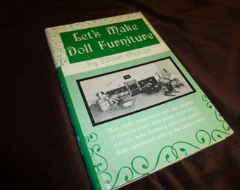 Let's Make Doll Furniture Vintage Book 1960s How To Illustrated Plus Newspaper Article Bonus