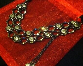 beautiful Black & Metalic choker necklace
